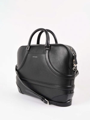 Alexander Mcqueen: laptop bags & briefcases online - Harness effect leather briefcase