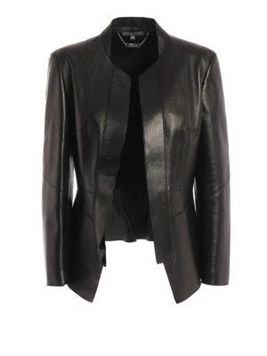 Alexander Mcqueen: leather jacket - Peplum detail leather jacket