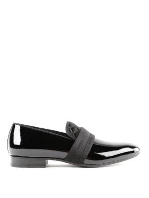 ALEXANDER MCQUEEN: Mocassini e slippers - Slipper in vernice con gros grain