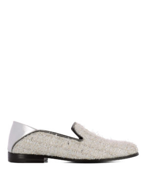 ALEXANDER MCQUEEN: Mocassini e slippers - Mocassini in tweed e pelle