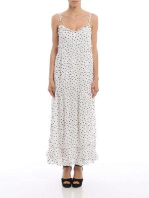 Alexander Mcqueen: maxi dresses online - Polka dot chiffon maxi dress