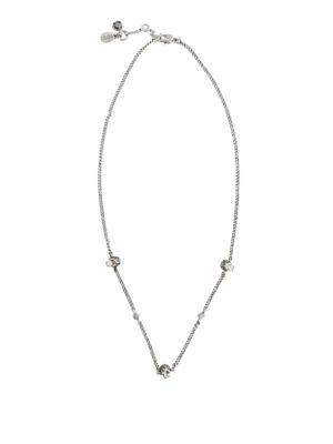 ALEXANDER MCQUEEN: Collane - Collana in ottone argento con Skull
