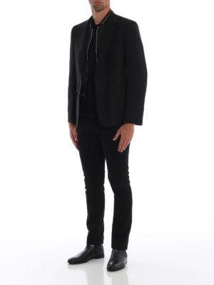 ALEXANDER MCQUEEN: giacche blazer online - Blazer in jacquard con plastron