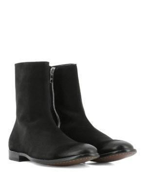 ALEXANDER MCQUEEN: stivali online - Stivaletti Chelsea in suede punta spazzolata