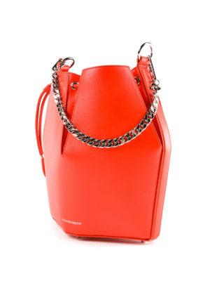 ALEXANDER MCQUEEN: Secchielli online - Borsa The Bucket Bag rosso carminio