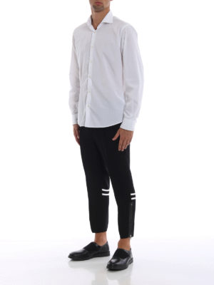 ALEXANDER MCQUEEN: pantaloni casual online - Pantaloni neri sportivi in crepe