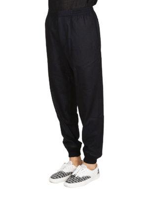 ALEXANDER MCQUEEN: pantaloni casual online - Pantaloni in lana con fondo elasticizzato