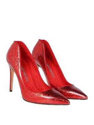 ALEXANDER MCQUEEN: scarpe décolleté online - Sensuali pump glitterate a forma di cuore