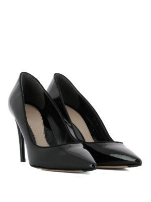 ALEXANDER MCQUEEN: scarpe décolleté online - Décolleté in vernice Horn Heel