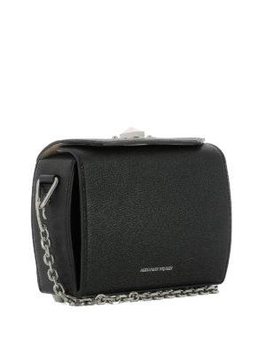 ALEXANDER MCQUEEN: borse a tracolla online - Borsa Box Bag 19 in pelle nera