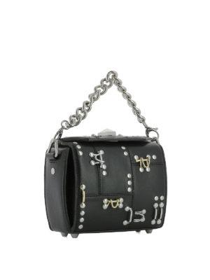 ALEXANDER MCQUEEN: borse a tracolla online - Box Bag 16 in pelle nera
