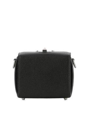 ALEXANDER MCQUEEN: borse a tracolla online - Borsa Box Bag 16 in pelle nera