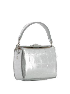 ALEXANDER MCQUEEN: borse a tracolla online - Nano Box Bag in pelle stampa cocco