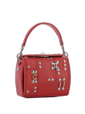 ALEXANDER MCQUEEN: borse a tracolla online - Nano Box Bag in pelle rossa