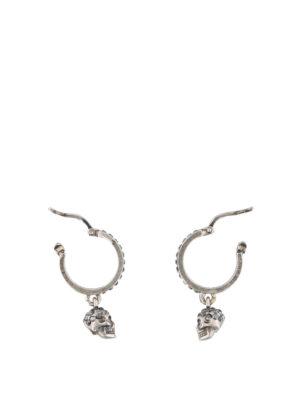 ALEXANDER MCQUEEN: Orecchini online - Orecchini argento con Skull pendente