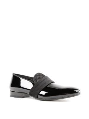 ALEXANDER MCQUEEN: Mocassini e slippers online - Slipper in vernice con gros grain