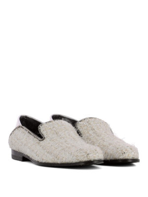 ALEXANDER MCQUEEN: Mocassini e slippers online - Mocassini in tweed e pelle