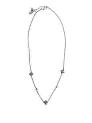 ALEXANDER MCQUEEN: Collane online - Collana in ottone argento con Skull