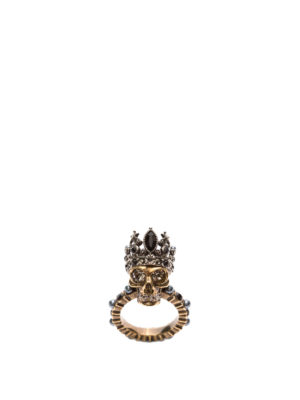 ALEXANDER MCQUEEN: Anelli online - Anello Queen Skull in ottone