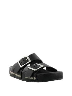 ALEXANDER MCQUEEN: sandali online - Sandali con maxi fibbie e borchie