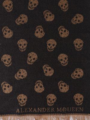 ALEXANDER MCQUEEN: sciarpe e foulard online - Sciarpa in lana e seta All over Skull
