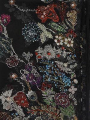 ALEXANDER MCQUEEN: sciarpe e foulard online - Sciarpa Jewelled Garden in seta