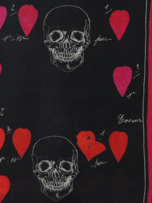 ALEXANDER MCQUEEN: sciarpe e foulard online - Sciarpa con stampa Petal Skull