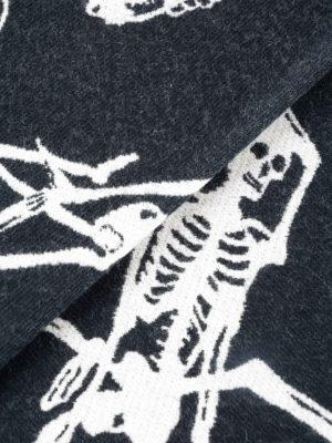 ALEXANDER MCQUEEN: sciarpe e foulard online - Sciarpa lana jacquard con scheletri