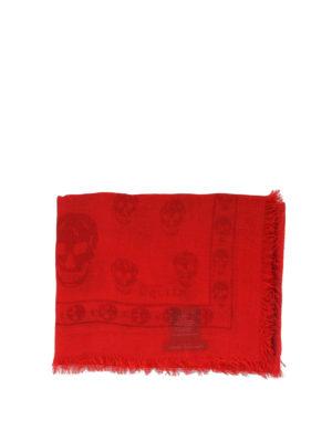 ALEXANDER MCQUEEN: sciarpe e foulard online - Sciarpa Skull in misto cashmere degradé