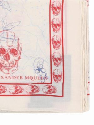 ALEXANDER MCQUEEN: sciarpe e foulard online - Foulard Skull Explorer