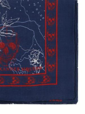 ALEXANDER MCQUEEN: sciarpe e foulard online - Sciarpa Skull Explorer