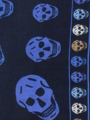 ALEXANDER MCQUEEN: sciarpe e foulard online - Sciarpa in misto lana con Skull
