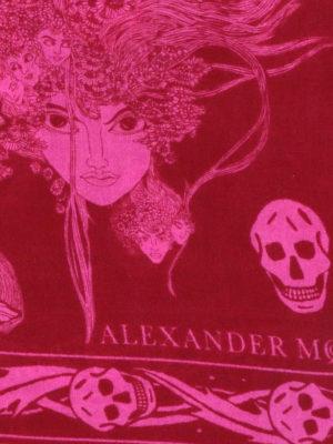 ALEXANDER MCQUEEN: sciarpe e foulard online - Foulard Skull in misto lana