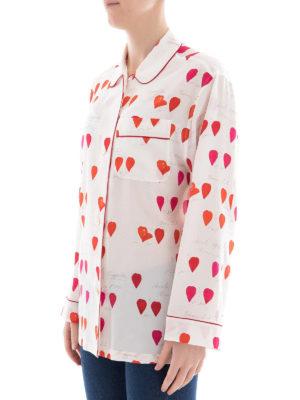 ALEXANDER MCQUEEN: camicie online - Camicia in seta con stampa petali