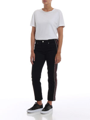 a sigaretta - Jeans con ricamo logo sul retro