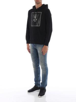 ALEXANDER MCQUEEN: Felpe e maglie online - Felpa con cappuccio e stampa Crowned Skull