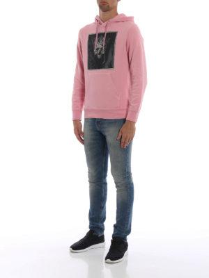 ALEXANDER MCQUEEN: Felpe e maglie online - Felpa rosa con cappuccio Crowned Skull