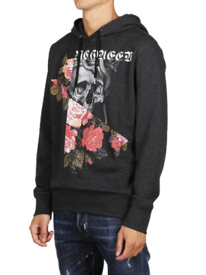 ALEXANDER MCQUEEN: Felpe e maglie online - Felpa con cappuccio a motivo Skull and Roses
