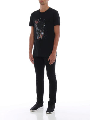 ALEXANDER MCQUEEN: t-shirt online - T-shirt con stampa Skull colorata