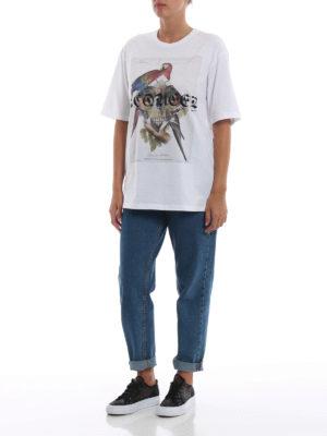 ALEXANDER MCQUEEN: t-shirt online - T-shirt bianca con stampa Nymphicus