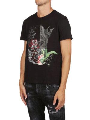 ALEXANDER MCQUEEN: t-shirt online - T-shirt nera Skull Patchwork