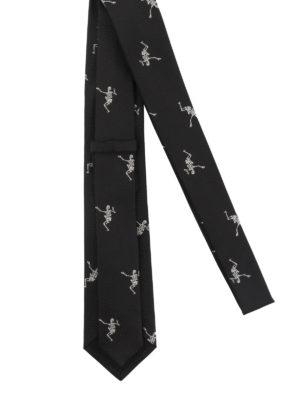 ALEXANDER MCQUEEN: cravatte e papillion online - Cravatta in seta Dancing Skeleton
