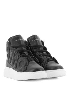 ALEXANDER MCQUEEN: sneakers online - Sneaker Oversize AMQ alte in nappa nera