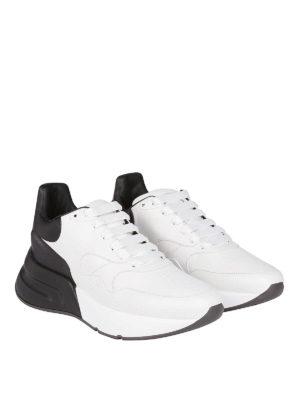 ALEXANDER MCQUEEN: sneakers online - Sneaker Runner Oversize bianche e nere