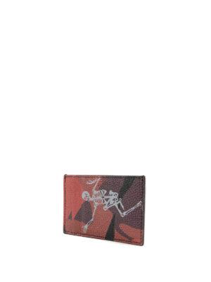 ALEXANDER MCQUEEN: portafogli online - Portacarte Dancing Skeleton camu