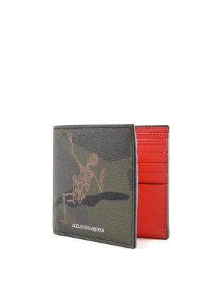 ALEXANDER MCQUEEN: portafogli online - Portafoglio Dancing Skeleton camu