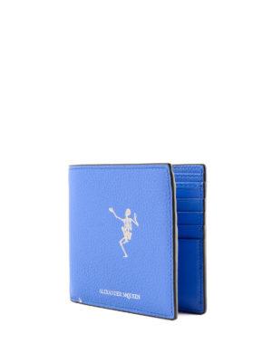 ALEXANDER MCQUEEN: portafogli online - Portafogli Dancing Skeleton azzurro