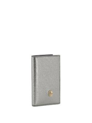 ALEXANDER MCQUEEN: portafogli online - Portafoglio billfold argento dettaglio Skull