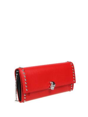 ALEXANDER MCQUEEN: portafogli online - Portafoglio rosso con Skull e borchie