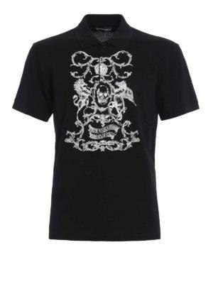 Alexander Mcqueen: polo shirts - Embroidered pique polo